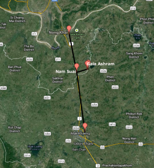 Gaia Ashram Map